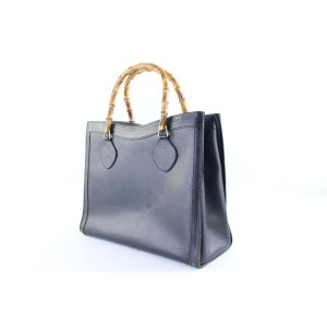 Gucci Bamboo Tote 12gr0131 Black Leather Satchel
