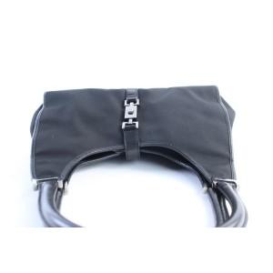Gucci Bardot Jackie Hobo Monogram Jackie-o 25gr0621 Black Canvas Shoulder Bag