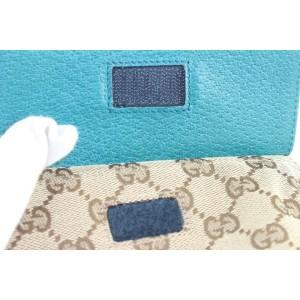 Gucci Turquoise Blue Monogram GG Belt Bag Fanny Pack Waist Pouch 639ggs317