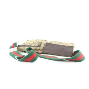 Gucci Web Monogram GG Belt Bag Fanny Pack Waist Pouch 688ggs318