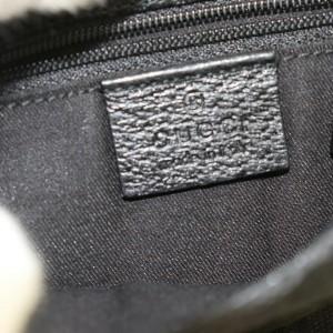 Gucci Belt 872071 Monogram Fanny Pack Waist Pouch Black Gg Canvas Cross Body Bag