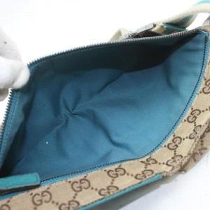 Gucci Belt Blue Monogram Fanny Pack Waist Pouch 872384 Light Brown Gg Canvas Cross Body Bag