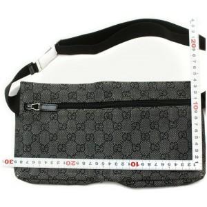 Gucci Charcoal Monogram GG Belt Bag Fanny Pack Waist Pouch 858662