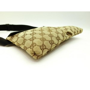 Gucci Brown Monogram GG Belt Bag Fanny Pack Waist Pouch 134gks429
