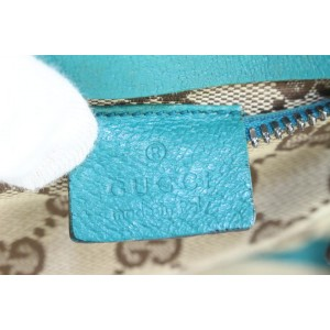 Gucci Turquoise Belt Bag Monogram GG Fanny Pack Waist Pouch 856ggs49