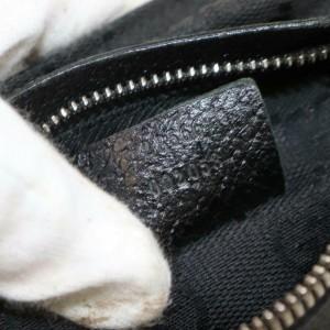 Gucci Belt Monogram Fanny Pack Waist Pouch 871485 Black Gg Canvas Cross Body Bag