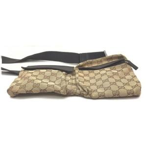 Gucci Brown Monogram GG Belt Bag Fanny Pack Waist Pouch 862510