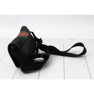 Gucci Black Web Soho Piranha Belt Bag Fanny Pack Waist Pouch 858945