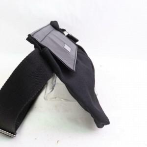 Gucci Belt Web Sherry Zipper Fanny Pack Waist Pouch 871469 Black Canvas Cross Body Bag