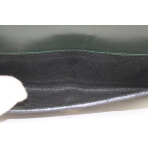 Gucci 231839-2888 Dark Green Guccissima Leather Long Wallet 443ggs61