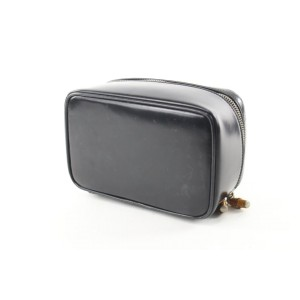 Gucci Black Enamel Bamboo Vanity Tote Box 519gks68