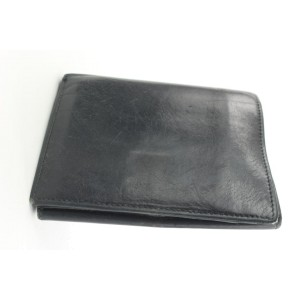 Gucci Black Leather Compact Wallet 145ggs25