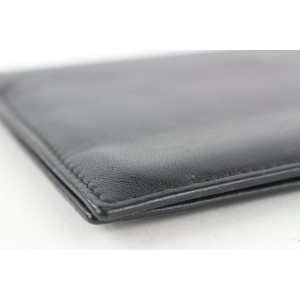 Gucci Black Leather Bifold Long Wallet 162gks53