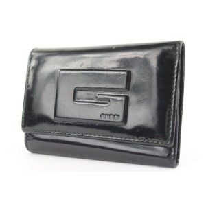 Gucci Black Patent 6 Key Holder Keychain Pouch 171ggs28
