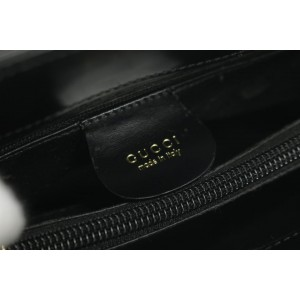 Gucci Black Shopper Tote 9gk1216 Patent Shoulder Bag