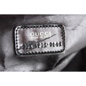 Gucci Black Suede Mini Vanity Tote Case 14ggs1229