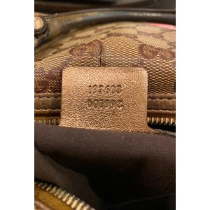 Gucci Boston Monogram Gg Crystal Joy 5a610 Brown Gold Coated Canvas Satchel