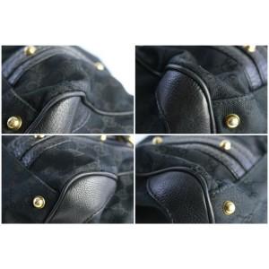 Gucci Boston Monogram Gg Interlocking Gg 17gz0821 Black Canvas Satchel