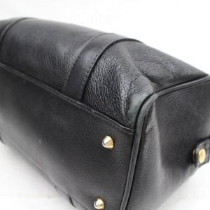 Gucci Black Leather Soho Logo GG Interlocking Boston 858999