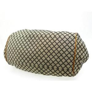 Gucci Boston Sukey Hobo 2way 227082 Brown X Grey Diamante Canvas Shoulder Bag