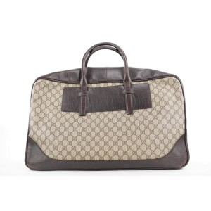 Gucci  Brown Supreme GG Suitcase Luggage 258ggs216
