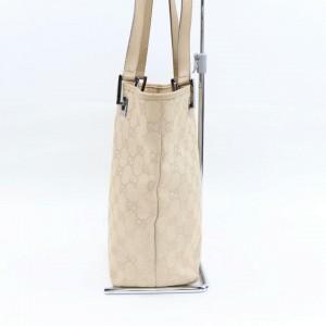 Gucci Beige Monogram GG  Cream  Bucket Shopper Tote 87011057