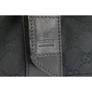 Gucci Black Monogram GG Bum Bag Belt Pouch Waist Pack 691gks319
