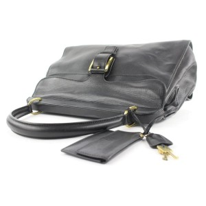 Gucci Black Calfskin Top Handle Satchel with Pouch 692gks319