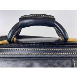 Gucci Carryon Monogram Luggage Suitcase with Strap 28ga530 Black Coated Canvas Weekend/Travel Bag