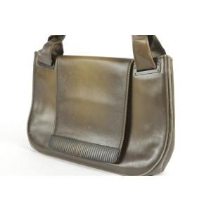 Gucci Carved Bamboo Flap 16gk1220 Brown Shoulder Bag