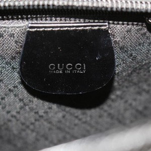 Gucci Convertible Quilted Bamboo 2way 868424 Black Canvas Tote