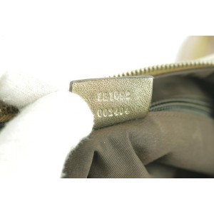 Gucci Croissant 233041 Pink Gold Web Half Moon Beige Gg Canvas Cross Body Bag