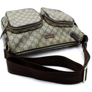 Gucci Crossbody Messenger 872492 Brown Gg Supreme Canvas Shoulder Bag
