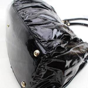 Gucci Hobo D-ring 867924 Black Patent Leather Shoulder Bag