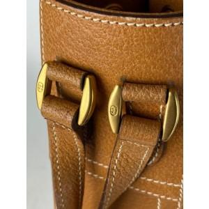 Gucci Drawstring Belt Strap 21ga62 Beige Canvas Shoulder Bag