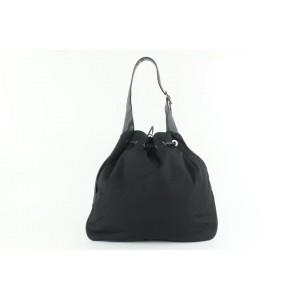Gucci Hobo Drawstring 20gz1019 Black Nylon Shoulder Bag