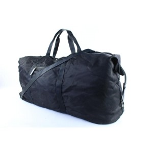 Gucci Duffle Boston Extra Large with Strap 14gr0110 Black Nylon Weekend/Travel Bag