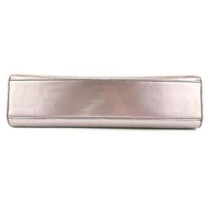 Gucci Guccissima GG Patent Metallic Purple Chain Flap Chain Bag 656gks37