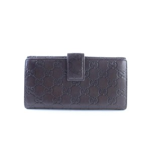 Gucci Flap Wallet 26gr0613 Brown Guccissima Leather Clutch