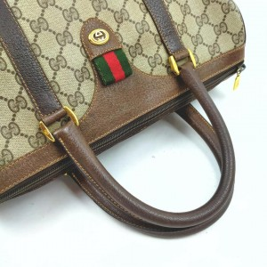 Gucci Supreme GG Web Joy Boston Bag  862526