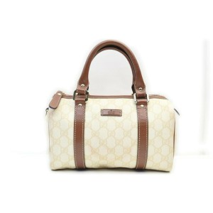 Gucci Ivory Monogram GG Joy Boston Bag  862533