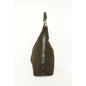 Gucci Large Khaki Brown Nylon Hobo Bag 701gks319