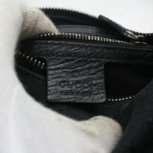 Gucci Horsebit 872882 Black Canvas Hobo Bag