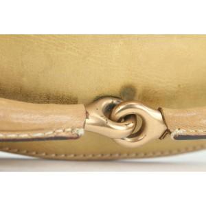 Gucci Black Monogram GG Horsebit Chain Hobo Bag 8ga113