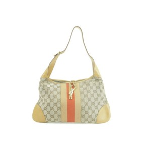 Gucci Bardot Jackie Hobo Monogram Sherry Web 10gk0102 Brown Gg Canvas Shoulder Bag