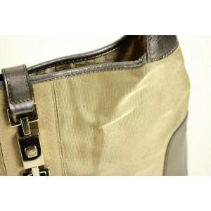 Gucci Jackie Hobo Jackie-o Ggtl48 Olive X Gold Leather Shoulder Bag
