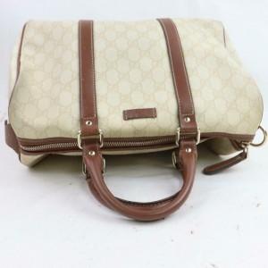 Gucci Joy Boston Bag Ivory Monogram 871520 Cream Gg Supreme Canvas Satchel