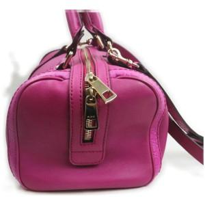 Gucci Hot Pink Fuchsia Leather Joy Boston Bag with Strap 863020