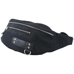 Gucci Large Banana Fanny Pack Web Tag Bum Waist Pouch 18gz0724 Black Canvas X Nylon Weekend/Travel Bag