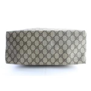 Gucci Large Web Shopper Tote 226529 Brown Supreme Canvas Messenger Bag